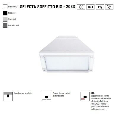 BOLUCE Selecta Big soffitto