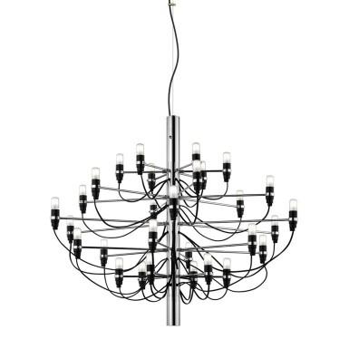 Lampadario-2097/30-cromo-design-Gino-Sarfatti-per-Flos